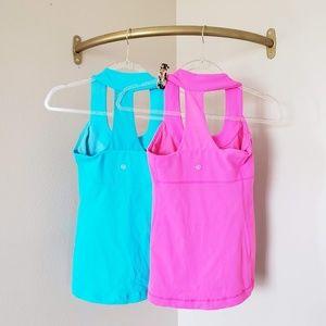 Lululemon Pink Blue Tank Top Bundle Size 4